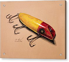 Acrylic Print featuring the painting Fishing Lure by Aaron Spong