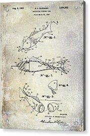 Fishing Lure Patent 1959 Acrylic Print by Jon Neidert