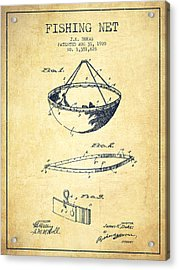 Fishing Net Patent From 1920- Vintage Acrylic Print