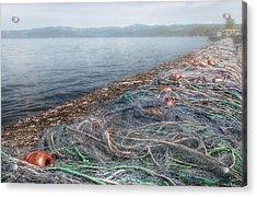 Fishing Nets To Dry Acrylic Print by Leonardo Marangi