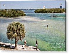 Fishing On Estero Bay Near Fort Myers Beach Florida Acrylic Print by William Kuta