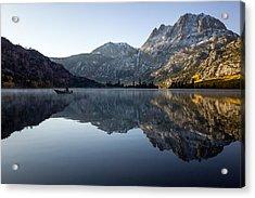 Fishing On Silver Lake  Acrylic Print
