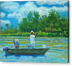 Fishing On The Cooper Acrylic Print