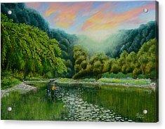 Fishing On The Dix Acrylic Print