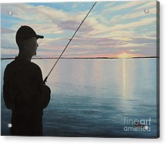 Fishing On The Flats Acrylic Print