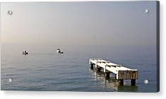 Fishing On The Riviera Acrylic Print by Jenny Hudson