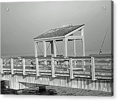 Acrylic Print featuring the photograph Fishing Pier by Tikvah's Hope
