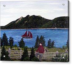 Fishing Schooner Acrylic Print by Barbara Griffin