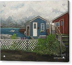 Fishing Shacks Alaska Acrylic Print by Reb Frost