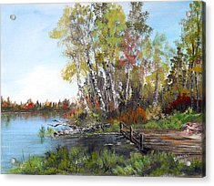 Fishing Spot Acrylic Print by Dorothy Maier