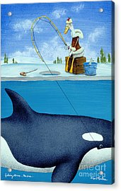 Fishing Stories ... The Orca .. Acrylic Print by Will Bullas