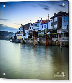 Fishing Town Of Redes Galicia Spain Acrylic Print