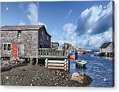 Fishing Town Acrylic Print by Renee Sullivan