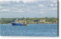 Acrylic Print featuring the photograph Fishing Trawler Coming Into Port by Jane Luxton