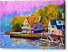 Fishing Village Acrylic Print by Kirt Tisdale