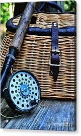 Fishing - Vintage Fly Fishing Acrylic Print