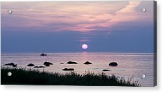 Fishing With Fire Acrylic Print by Dan Comeau