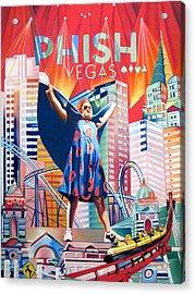 Fishman In Vegas Acrylic Print by Joshua Morton