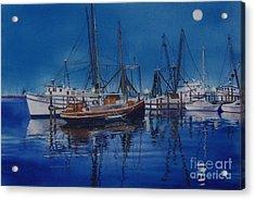Fishmoon Acrylic Print by Karol Wyckoff