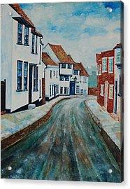 Fishpool Street - St Albans - Winter Scene Acrylic Print