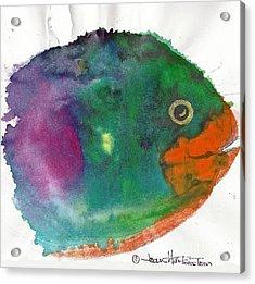 Fishy Acrylic Print by Joan Hartenstein