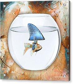 Fishy Story Acrylic Print by Marvin Blaine