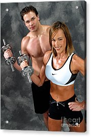 Fitness Couple 17-2 Acrylic Print by Gary Gingrich Galleries