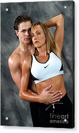 Fitness Couple 27 Acrylic Print by Gary Gingrich Galleries
