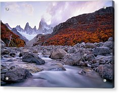 Fitz Roy Under Twilight Acrylic Print