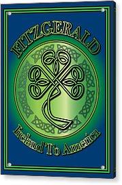 Fitzgerald Ireland To America Acrylic Print