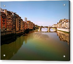 Acrylic Print featuring the photograph Fiume Di Sogni by Micki Findlay