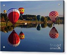 Five Aloft Acrylic Print by Mike  Dawson