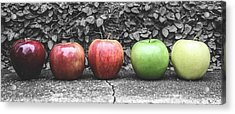 Five Apples  Acrylic Print by Steven  Taylor