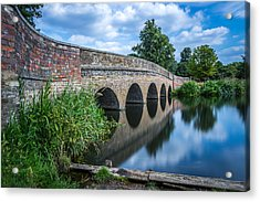 Acrylic Print featuring the photograph Five Arches Bridge. by Gary Gillette