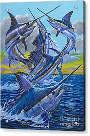 Five Billfish Off00136 Acrylic Print by Carey Chen