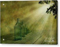 Five Bottles Acrylic Print by Veikko Suikkanen