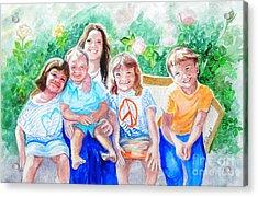 Five Cousins Acrylic Print by Susan  Clark