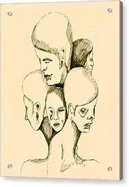 Five Headed Figure Acrylic Print by Sam Sidders