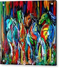 Five Horses Acrylic Print