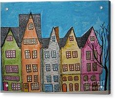 Five In A Row Acrylic Print by Marcia Weller-Wenbert
