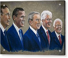 Five Living Presidents 2009 Acrylic Print