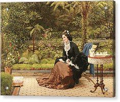 Five Oclock Acrylic Print by George Dunlop Leslie