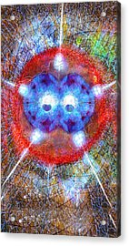 Five Of Wands/stars - Fusion - Artwork For The Science Tarot Acrylic Print