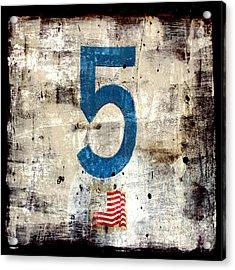 Five On The Flag Acrylic Print