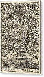 Five Sorrowful Mysteries, Antonie Wierix II Acrylic Print
