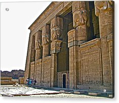 Five Thousand Year Old Temple Of Hathor In Dendera- Egypt Acrylic Print by Ruth Hager