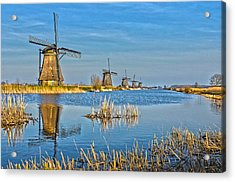 Five Windmills At Kinderdijk Acrylic Print