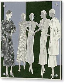 Five Women Acrylic Print by William Bolin