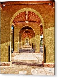 Historic 1927 Train Station - Venice Florida Acrylic Print by Frank J Benz
