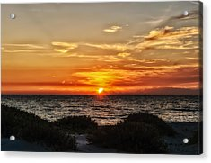 Sand Dune Sunset Acrylic Print by Frank J Benz